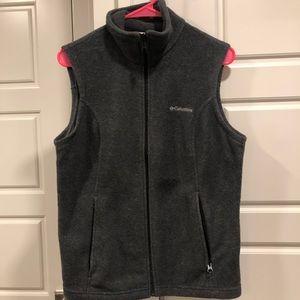 Women's Columbia fleece vest - Gray Medium